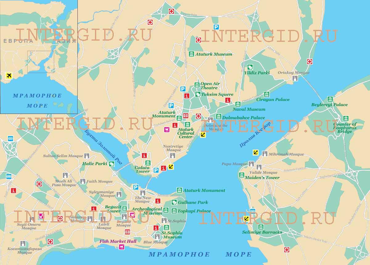 Общая карта г стамбул турция