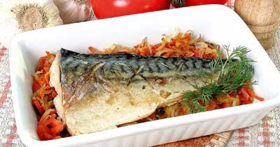 Просмотр фотографий блюда Рыба, запеченная в духовке.